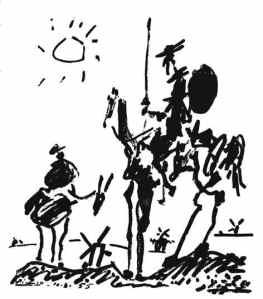 Ilustración de Don Quijote y Sancho Panza