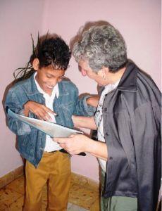 Foto tomada durante mi etapa de enseñanza secundaria. Me acompaña Irma, la madre de René.