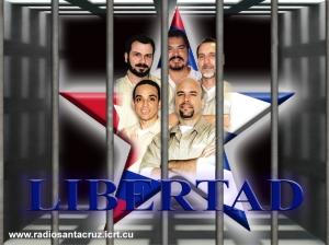 Cinco Héroes Cubanos presos injustamente en cárceles norteamericanas