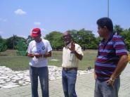 De izquierda a derecha: Paquito, Misiano y Francisco