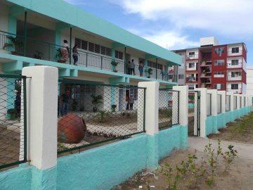 Parte de los gastos de la construcción de la Escuela Primaria Águedo Morales se cubrieron con financiamiento de la contribución territorial. Foto: Miguel Febles